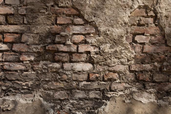 Vinilo pixerstick antigua muralla fondo ladrillo for Vinilos para murallas