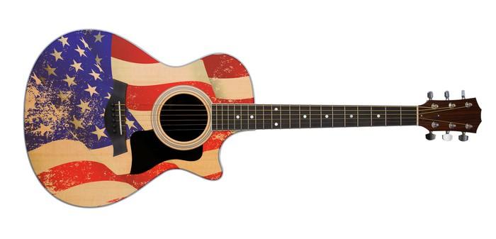papier peint drapeau usa la guitare acoustique pixers nous vivons pour changer. Black Bedroom Furniture Sets. Home Design Ideas