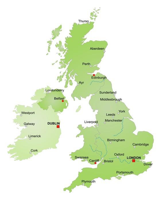 karta irland storbritannien Dekor Karta över Storbritannien och Irland / vektor • Pixers®   Vi  karta irland storbritannien