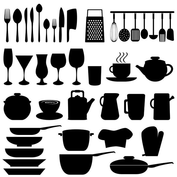 fotomural utensilios y objetos de cocina pixers