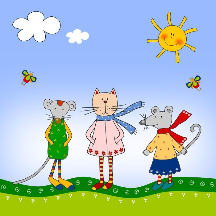 Carta da parati illustrazioni per bambini pixers for Carta parati bambini