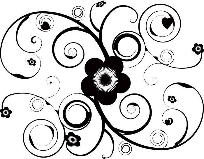 Vinylová Tapeta Květinové tetování - Květiny