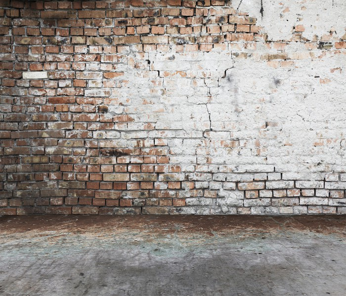 Brick wall vintage background wall mural pixers we for Brick wall mural