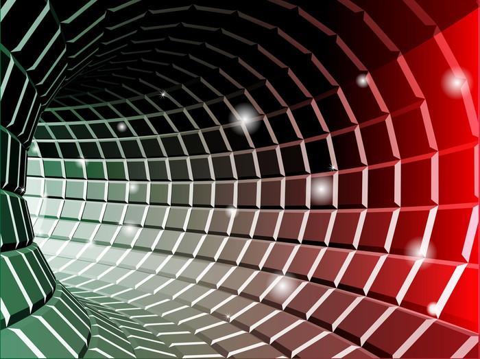 Vinylová Tapeta Abstraktní tunelu pozadí - Struktury
