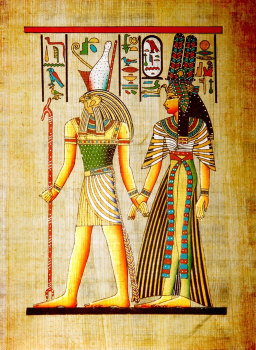 Papyrus Old natural paper from Egypt Wall Mural • Pixers® • We live ...