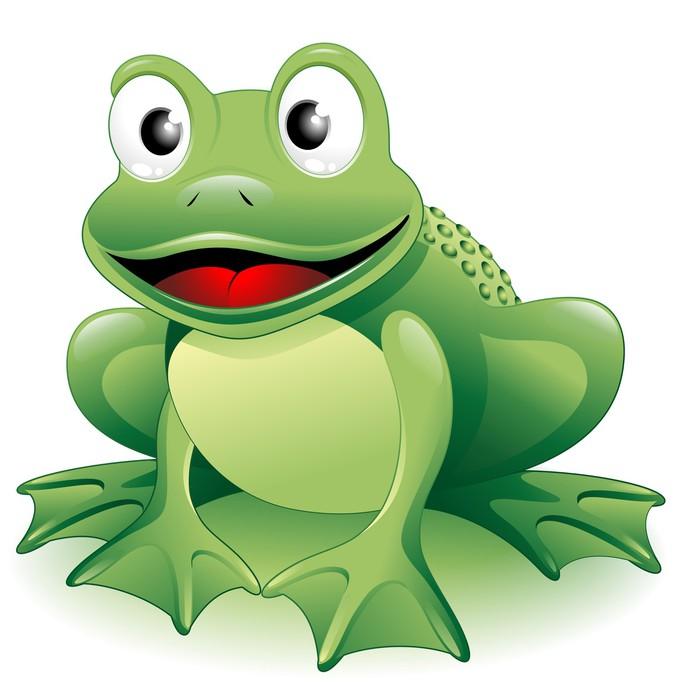 Naklejka Żaba cartoon frog vector pixers Żyjemy