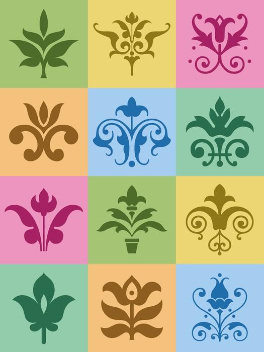 Vinylová Tapeta Květinové ornamenty - Značky a symboly