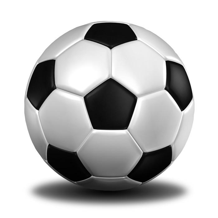 Adesivo rendering 3d di un pallone da calcio leather - Pagina da colorare di un pallone da calcio ...