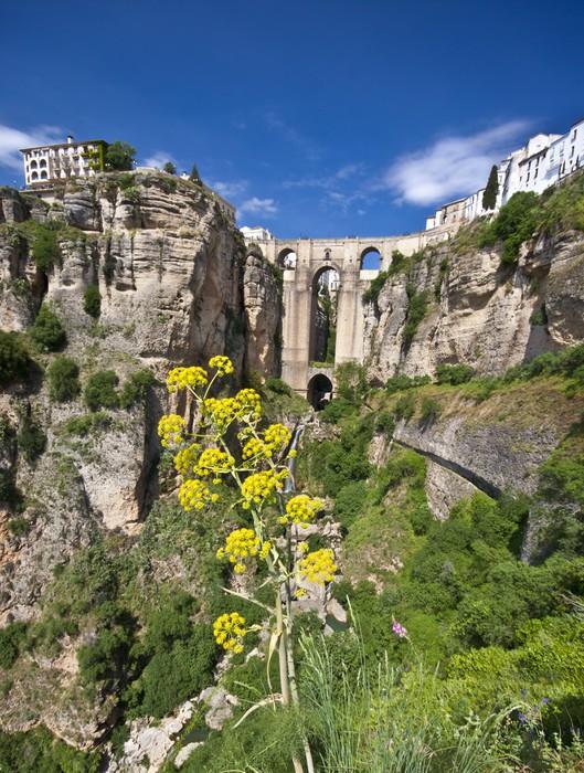 Vinylová Tapeta Panoramatický pohled na Ronda, Andalusia, Španělsko - Evropa