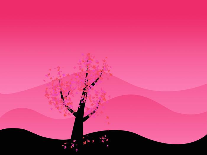 Vinylová Tapeta Růžový strom - Stromy