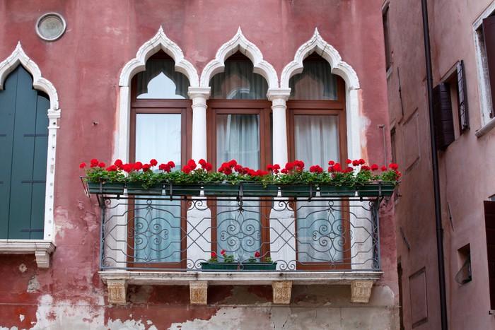 Vinylová Tapeta Balkon v Benátkách - Evropská města