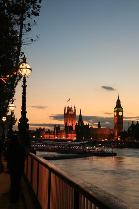 Vinylová Tapeta Westminster za soumraku - Evropská města