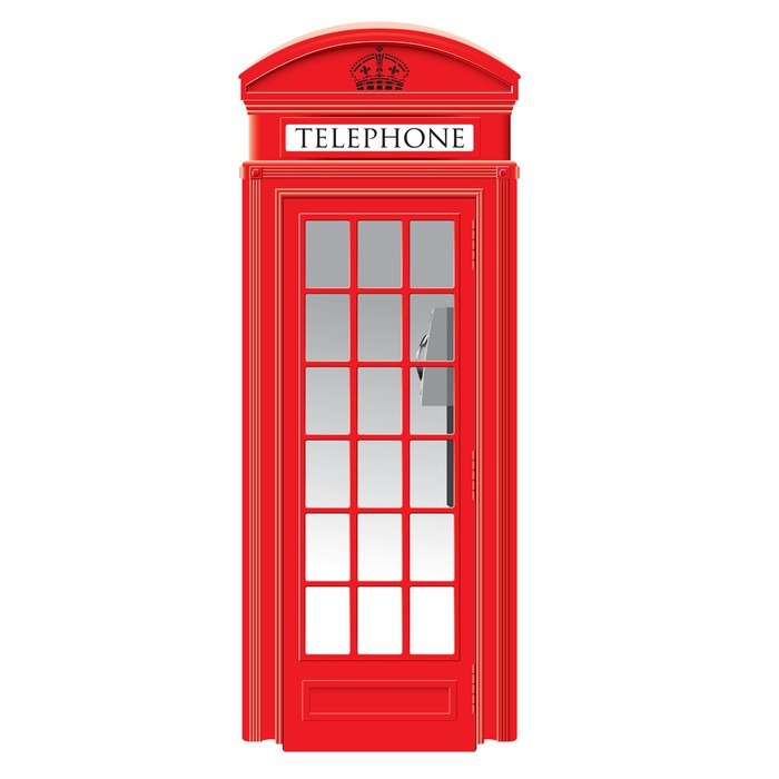 Red Telephone Box London Vector Sticker Pixers 174 We