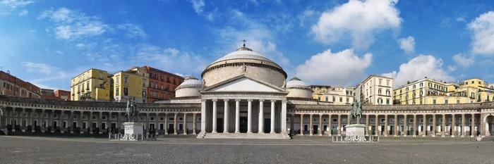 Nálepka Pixerstick Náměstí Plebiscito v Neapol - Veřejné budovy