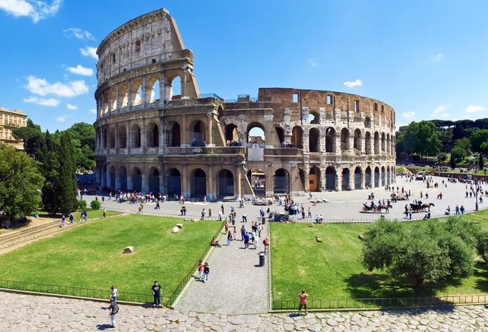 Carta da parati piazza del colosseo roma pixers for Carta da parati roma