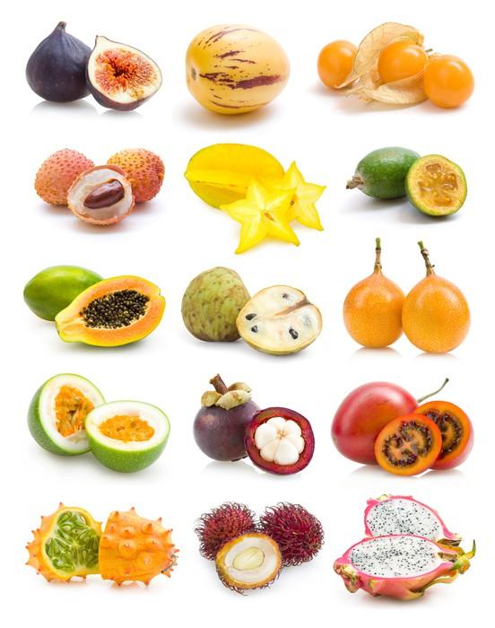 Papier peint collecte de fruits exotiques pixers nous - Image fruit exotique ...