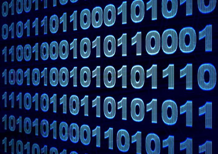 Vinylová Tapeta Binární kód - Značky a symboly
