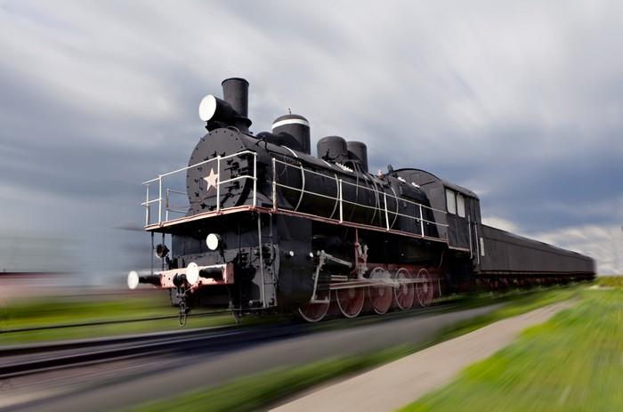 Vinylová Tapeta Parní lokomotiva v pohybu - Témata