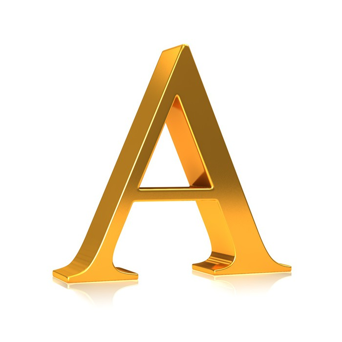 Fototapete Gold 3d Buchstaben \