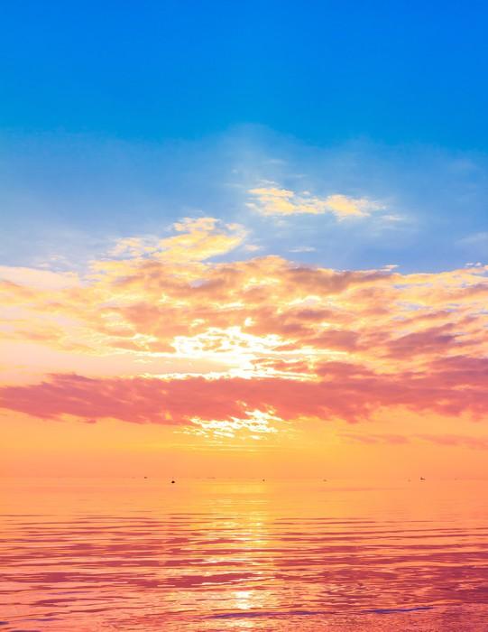 Vinylová Tapeta Rising Sun Panorama - Roční období