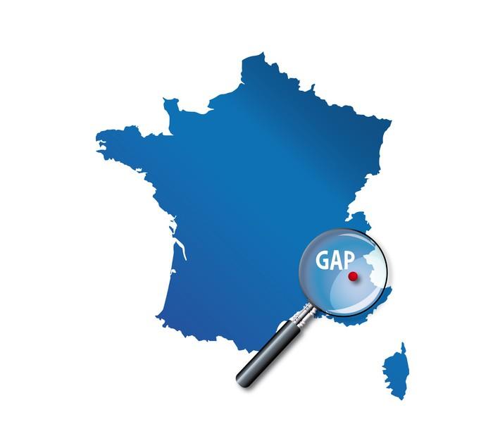 Vinylová Tapeta Gap: Carte de France - Departement des Hautes-Alpes - Evropa