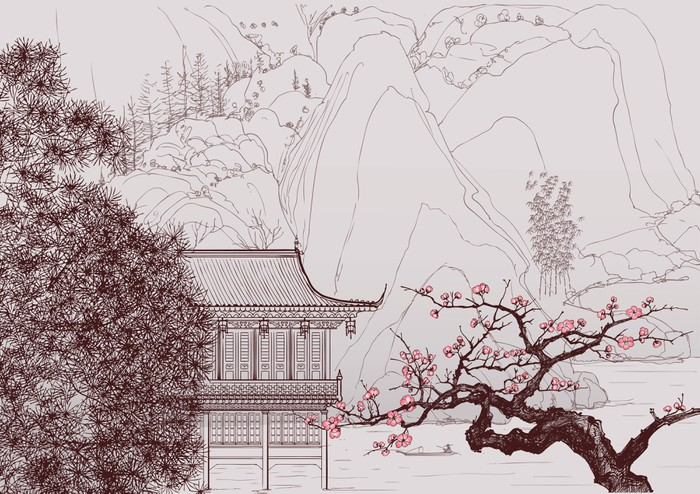 Chinese landscape wall mural pixers we live to change for Chinese wall mural