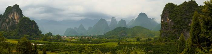 Vinylová Tapeta Xingping Karst Panorama - Asie