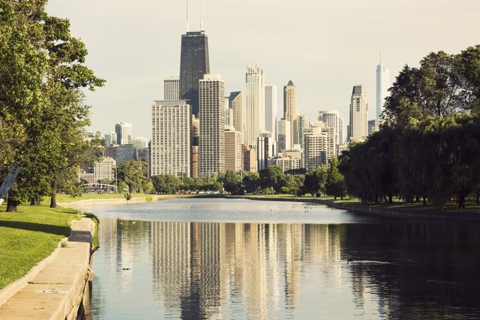 Vinylová Tapeta Downtown Chicago pohled z Lincoln Park - Jiné