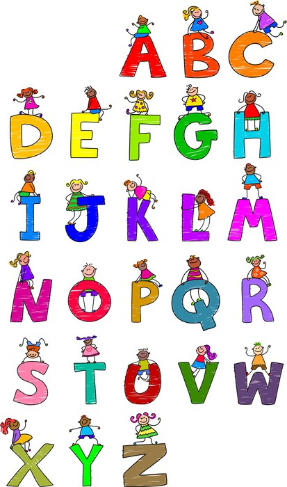 Alphabet children wall mural pixers we live to change for Alphabet wall mural