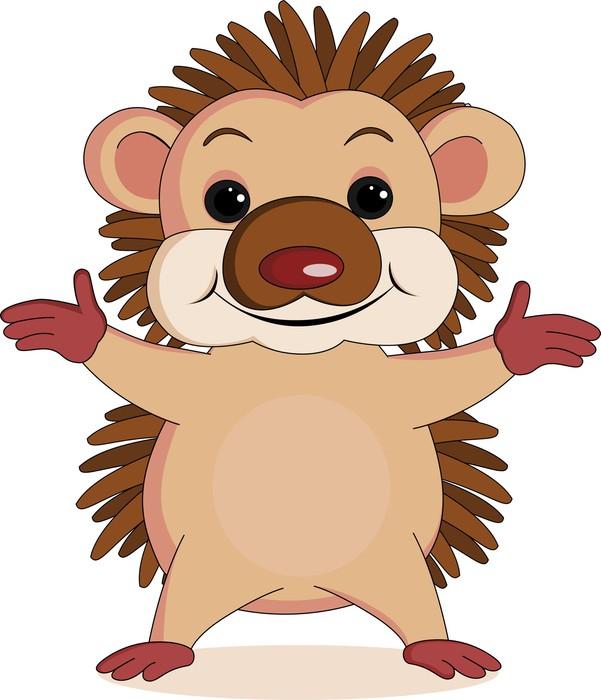 Carta da parati hedgehog cartone animato pixers