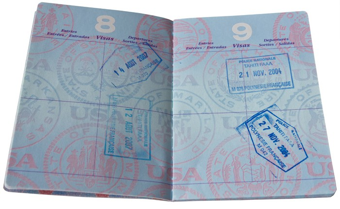Sticker passeport avec visa timbres o pixersr nous for Kitchen cabinets lowes with papiers pour passeport