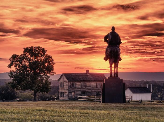 Vinylová Tapeta Stonewall Jackson na Manassas Battlefield - Amerika