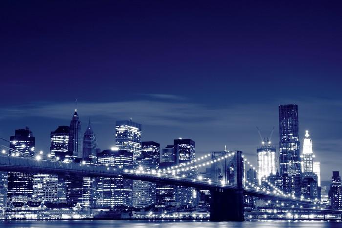 fototapete brooklyn bridge bei nacht new york city pixers wir leben um zu ver ndern. Black Bedroom Furniture Sets. Home Design Ideas