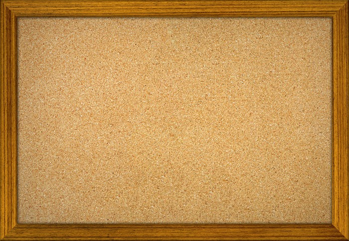 office cork notice board isolated with wood frame Sticker • Pixers ...