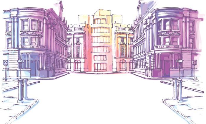 Papier Peint Vinyle Les bâtiments - ancien et le nouveau - Thèmes