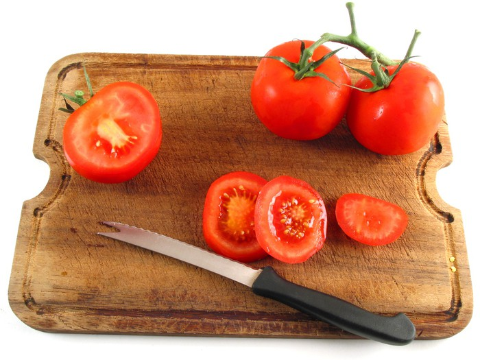 Vinylová Tapeta Krájení rajčat - Témata