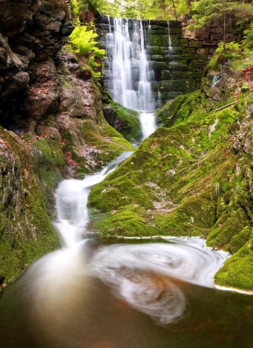 Vinylová Tapeta Vodopád v Krkonošský národní park - česky - Voda