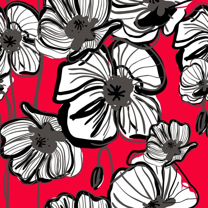 Tapete rote mohnblumen pixers wir leben um zu ver ndern for Rote tapete