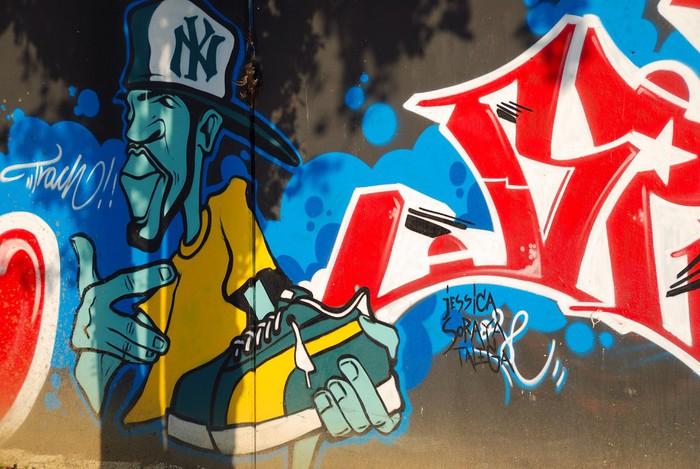 tableau sur toile graffiti hip hop expression pixers nous vivons pour changer. Black Bedroom Furniture Sets. Home Design Ideas