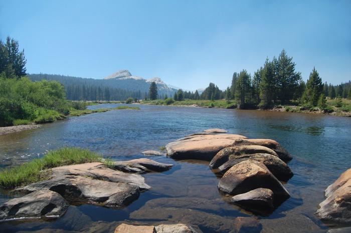 Vinylová Tapeta Tuolumne řeka v Yosemite - Amerika
