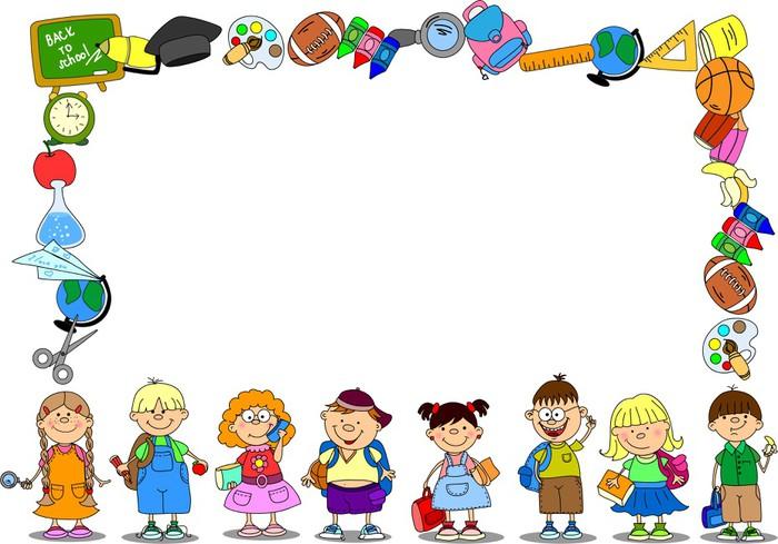 Scollare Carta Da Parati.Carta Da Parati Scolari Carino E Studentesse Elementi Scuola Il Telaio In Vinile