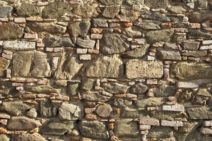 Old stone wall Wall Mural - Vinyl - Other