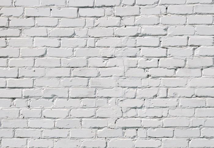 Carta da parati un muro di mattoni bianchi pixers for Carta da parati effetto muro mattoni