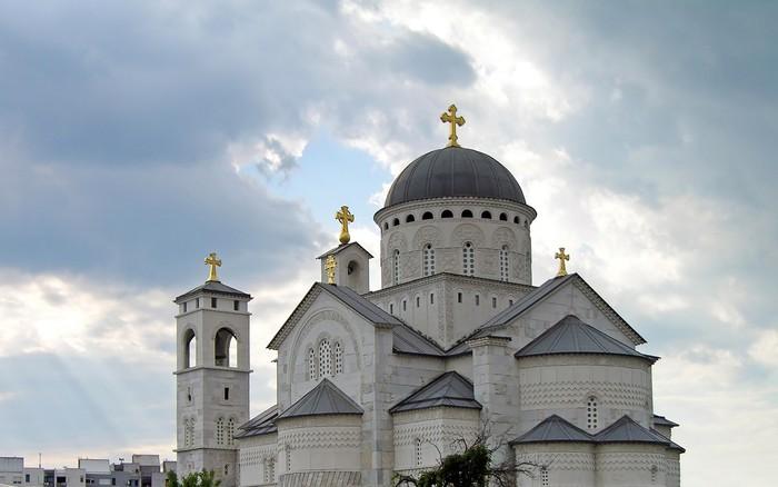 Vinylová Tapeta Kristovo vzkříšení katedrála, Podgorica, Černá Hora - Evropa