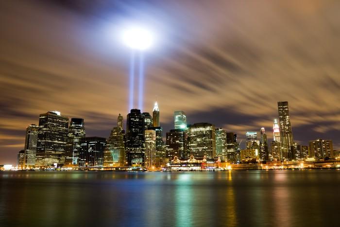 Vinylová Tapeta 911 Light Památník v New Yorku - Americká města