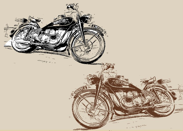 Moto Harley Davidson Wall Mural   Vinyl   On The Road Part 91