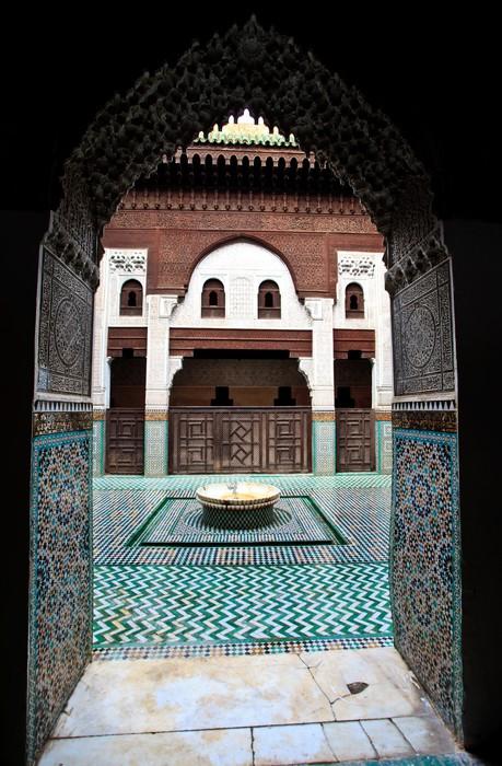 Sticker porte arche cadres cour de la madrasa pixers for Porte de cour