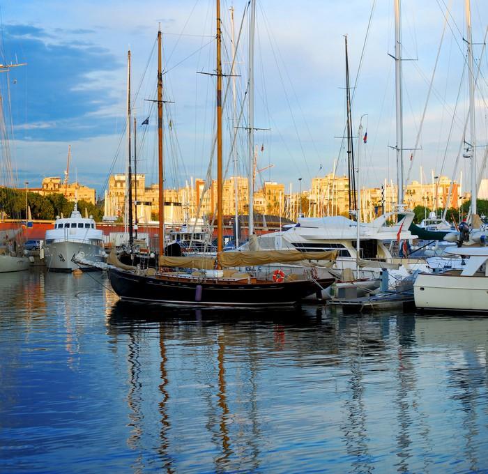 Vinylová Tapeta Lodě a jachty v Port Vell, Barcelona, Španělsko - Témata