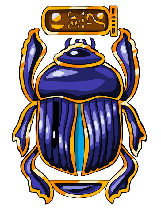 The Egyptian Sacred Symbol Scarab Wall Mural Pixers We Live