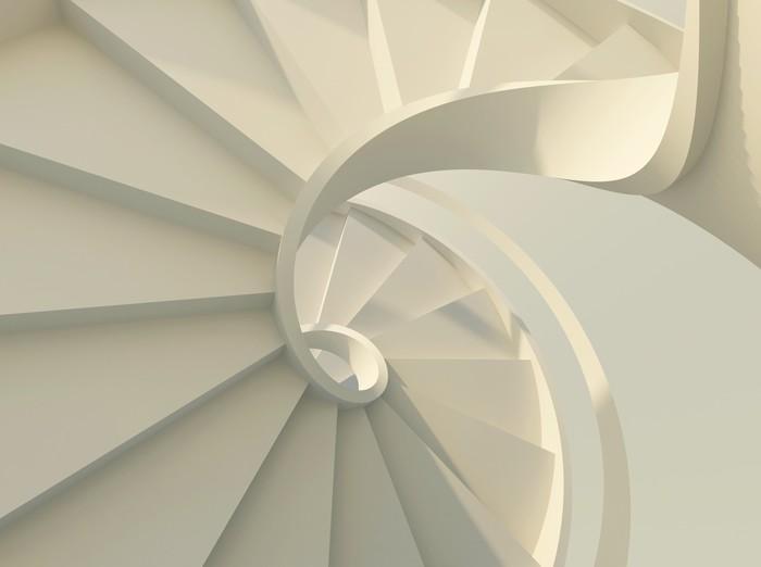 Papier peint escalier en colima on blanc pixers nous - Papier peint escalier ...